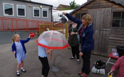 Learning about the water cycle at Selworthy Special School
